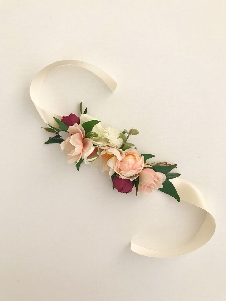Floral dog wedding collar