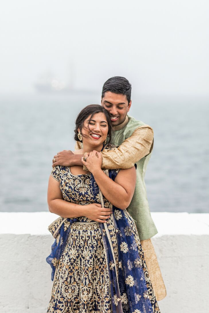 Traditional Indian Attire for Wedding at Belle Mer in Newport, Rhode Island