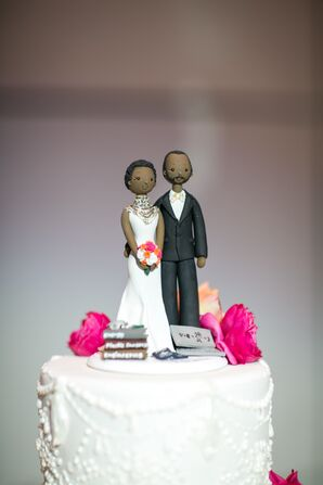 Modern Couple Cake Topper