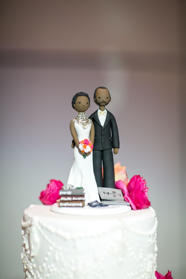 Modern Couple Cake Topper