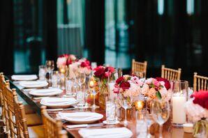 Gold Chiavari Chairs at 501 Union Wedding Reception