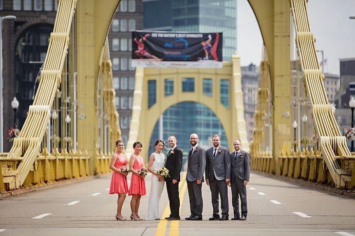 Wedding Party on Andy Warhol Bridge