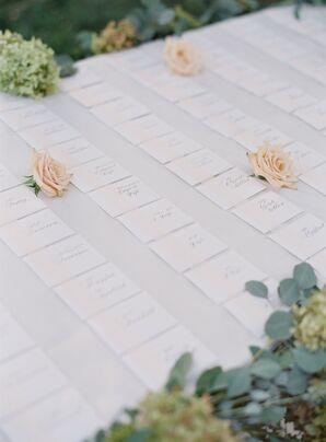 Simple White Escort Card Display
