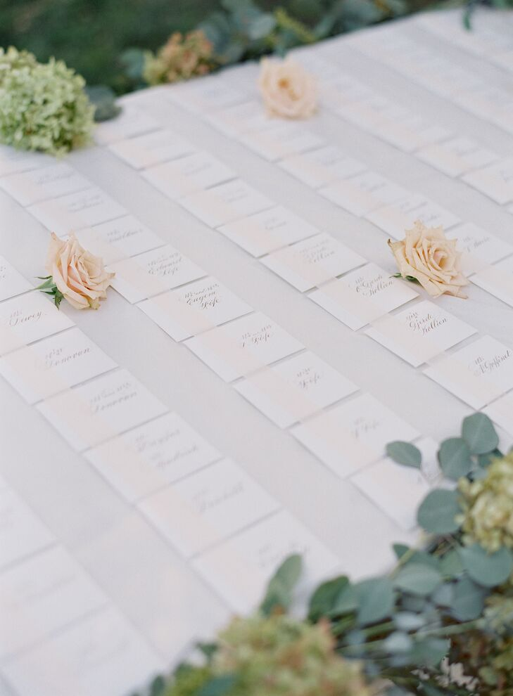 Simple White Escort Card Display