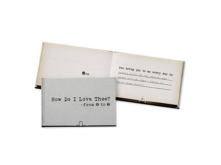 Fill-in-the-blank book wedding gift for bride