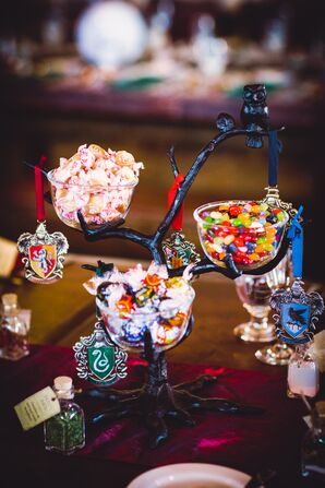 Whimsical Harry Potter-Inspired Candy Display