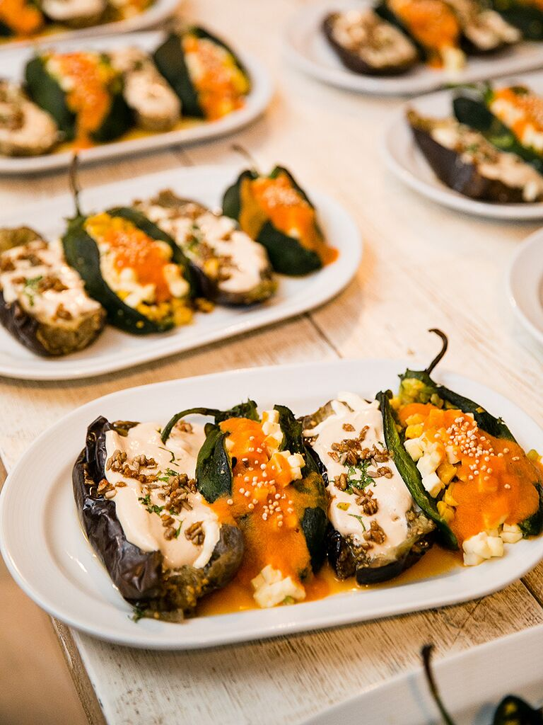 Stuffed Pepper Wedding Reception Etizers