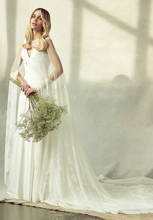 Savannah Miller Frances Cape Sheath Wedding Dress