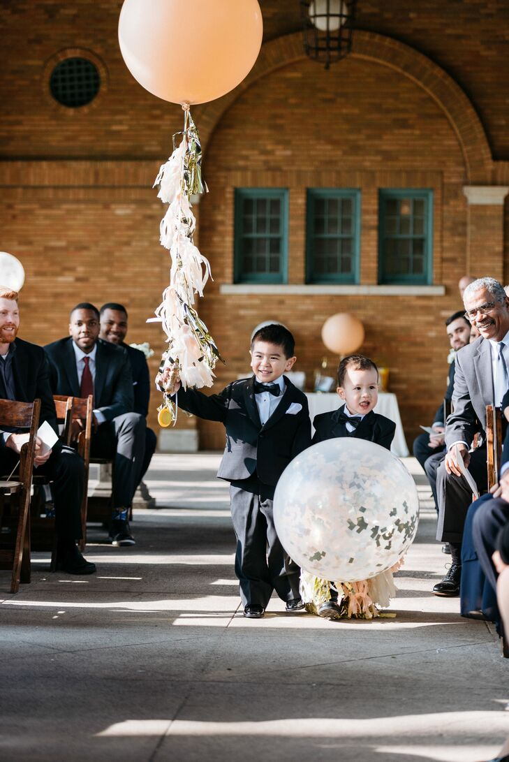 Glam Tassel-Trimmed Ring Bearer Balloons
