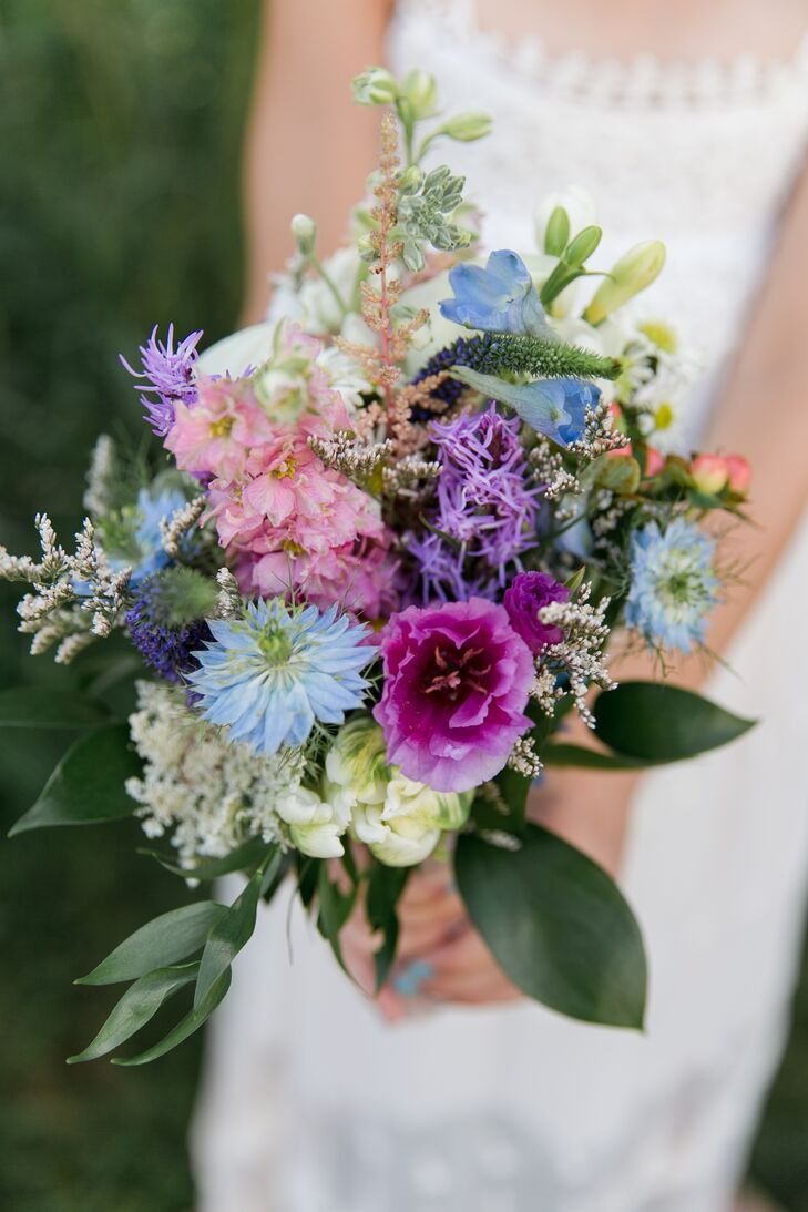Rustic Blue and Purple Wildflower Bouquet
