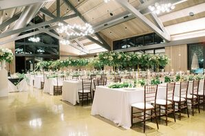 Classic Reception Setup for Wedding in Yountville, California