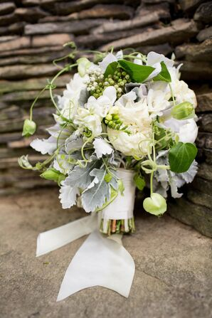 Green and White Bridal Bouquet