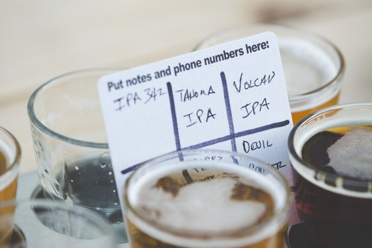 Beer Order Card, White and Blue