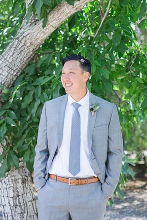 Relaxed Gray Suit for Garden Wedding