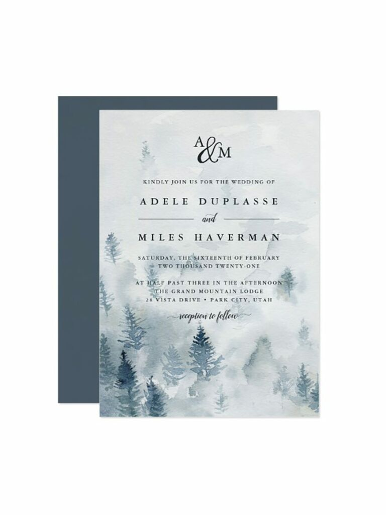 Christmas Wedding Invitations.Winter Wedding Invitations We Love