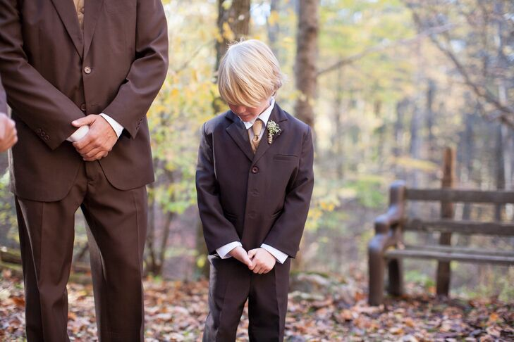 Whitney and Aaron's Adorable Ring Bearer