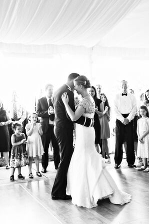 First Dance in Tented Reception Space