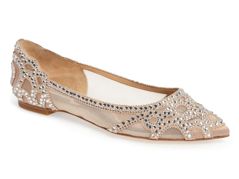 Jeweled sparkly wedding flats