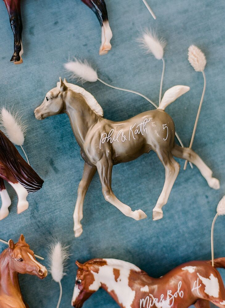 Horse Escort Card for Wedding at Vista Valley Country Club in California