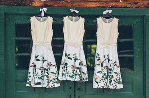 Printed Ted Baker Bridesmaid Dresses