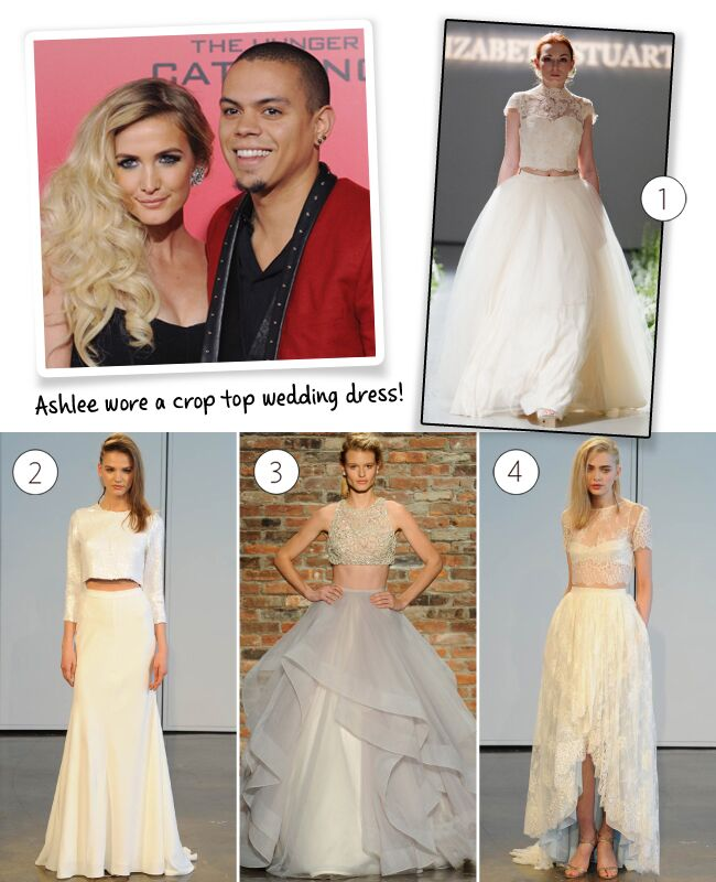 Ross Wedding Dress | Ashlee Simpson Wore A Crop Top Wedding Dress At Her Bohemian Ceremony