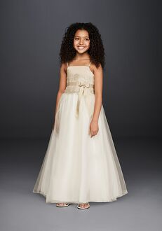 David's Bridal Flower Girl David's Bridal Style H1173 Champagne Flower Girl Dress