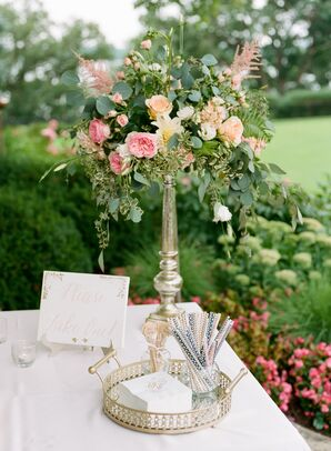 Cocktail Hour Decor with Custom Monogrammed Napkins