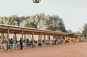Outdoor Tented Reception at New Mexico Wedding