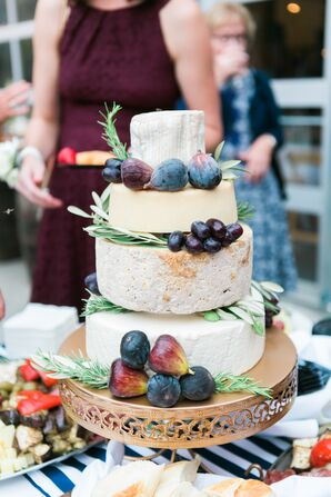 Tiered Cheese Wheel Cake