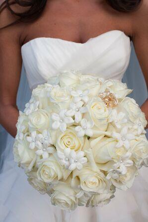 White Rose and Stephanotis Bouquet