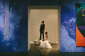 Creative Art Museum Wedding Shot