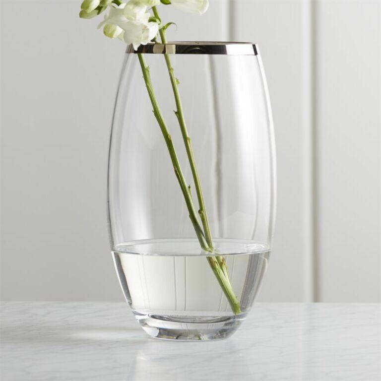 Pryce silver rim vase