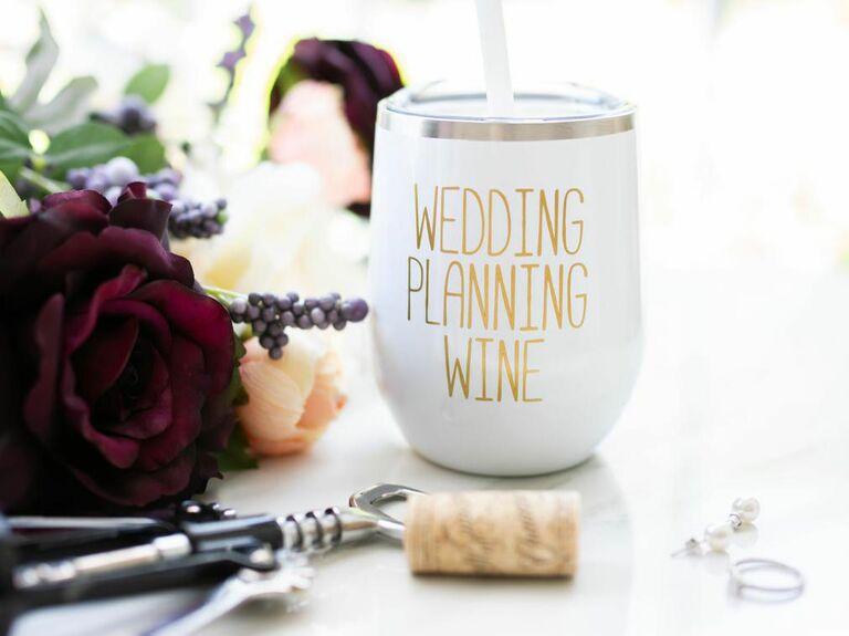 wedding planning wine glass