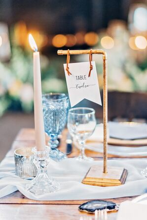 Rustic-Industrial Table Numbers