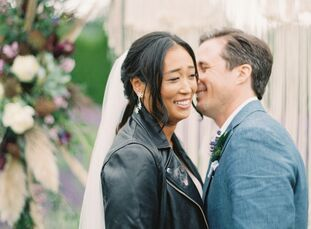 "Stella Cha and Jim Fausto planned a relaxed, bohemian fete filled with their favorite things for their summer wedding in Redmond, Washington. ""I strug"