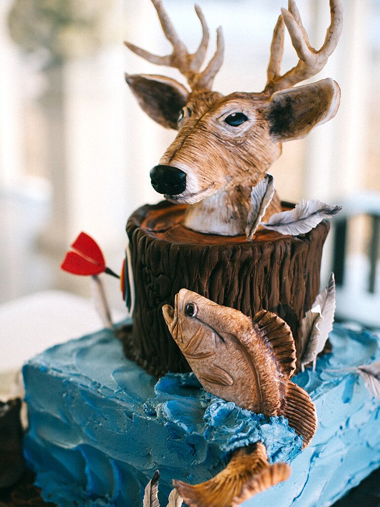 Outdoor sports groom's cake idea