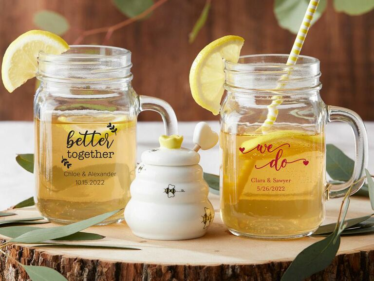customized mason jars rustic wedding favor