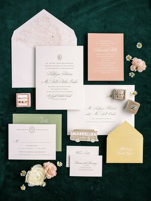 Classic Invitation for Wedding at The Caramel Room in St. Louis, Missouri