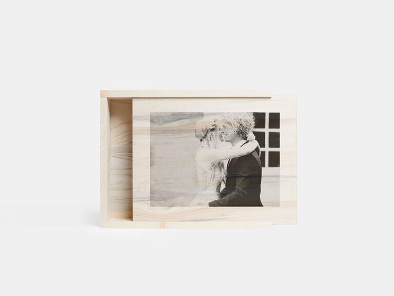 Artifact Uprising wooden box personalized wedding gift