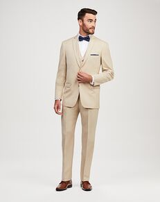Jos. A. Bank 2-Button Notch Lapel Tan Suit Tuxedo