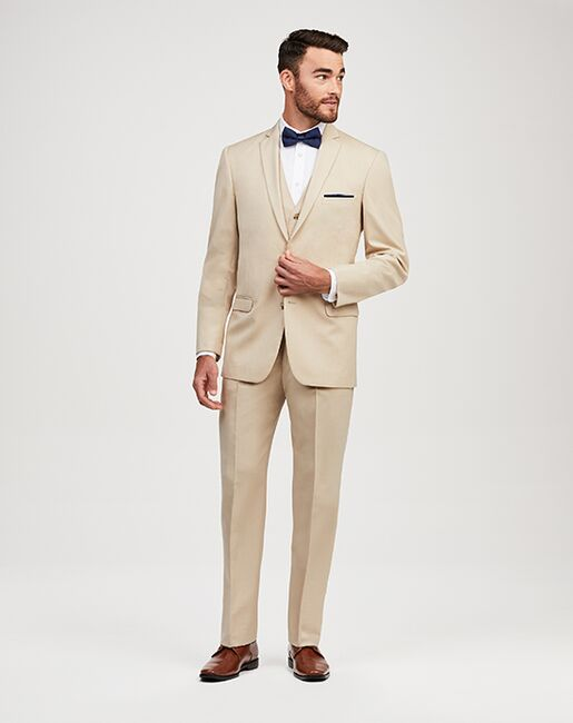 Jos. A. Bank 2-Button Notch Lapel Tan Suit Tuxedo