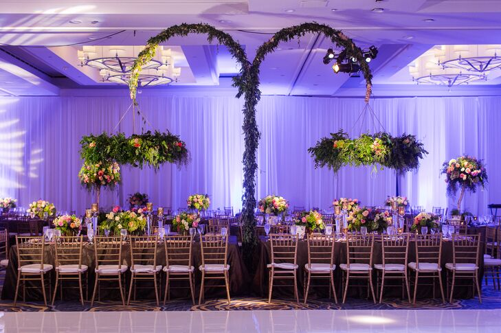 Suspended Head Table Wreaths