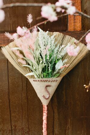 DIY Broom with Flowers for Jumping the Broom