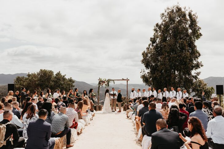 Outdoor Desert Ceremony with Wood Arch