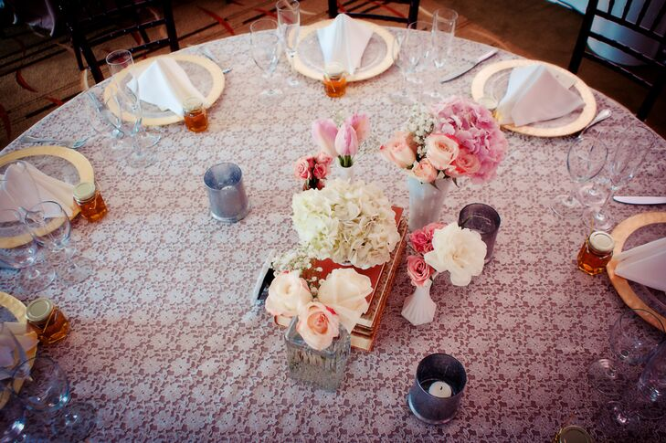 Lace Reception Tablecloth and Vintage accents