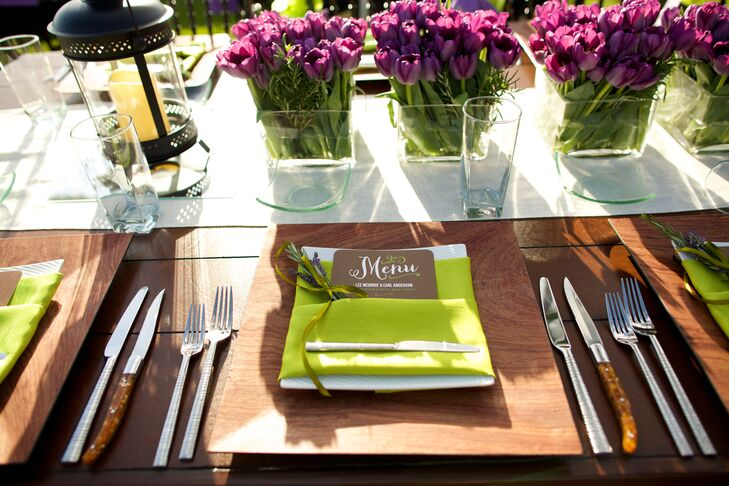 Green and Brown Rustic Place Settings