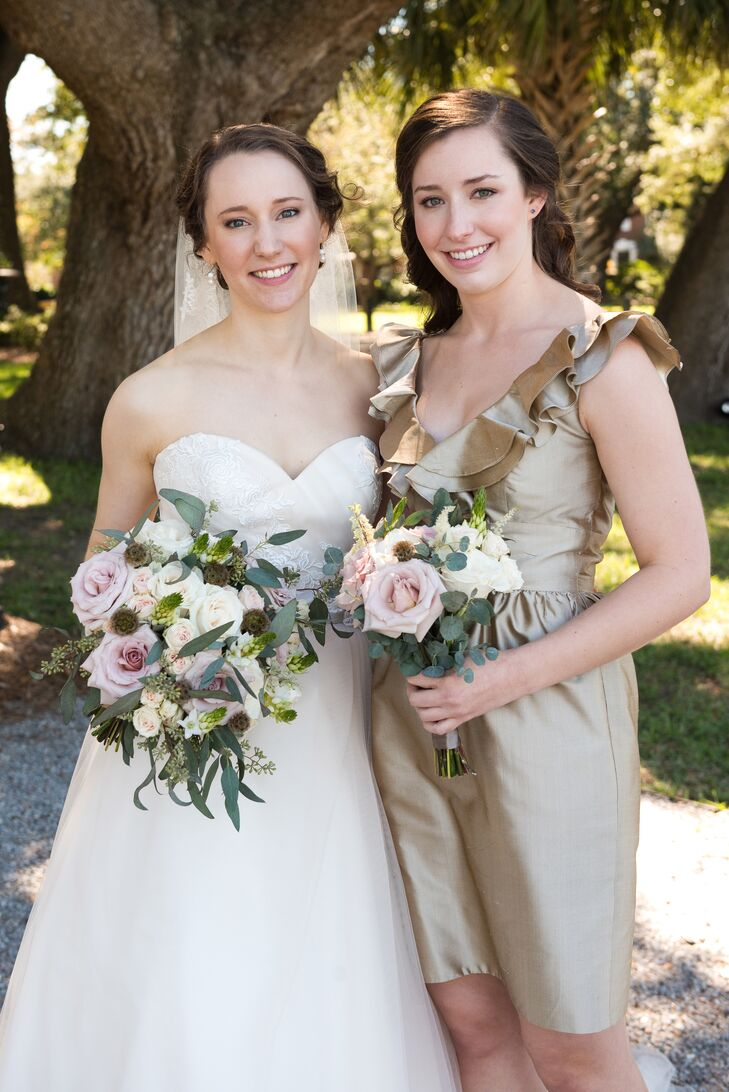 The Bridesmaids Wore Lynn Lugo Dresses In Dune Silk Shantung