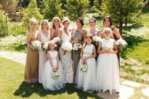 Earthy Metallic Bridal Party Look