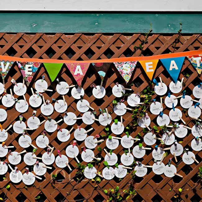 Fence Escort Card Display