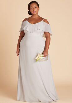 Birdy Grey Jane Convertible Dress Curve in Dove Gray V-Neck Bridesmaid Dress